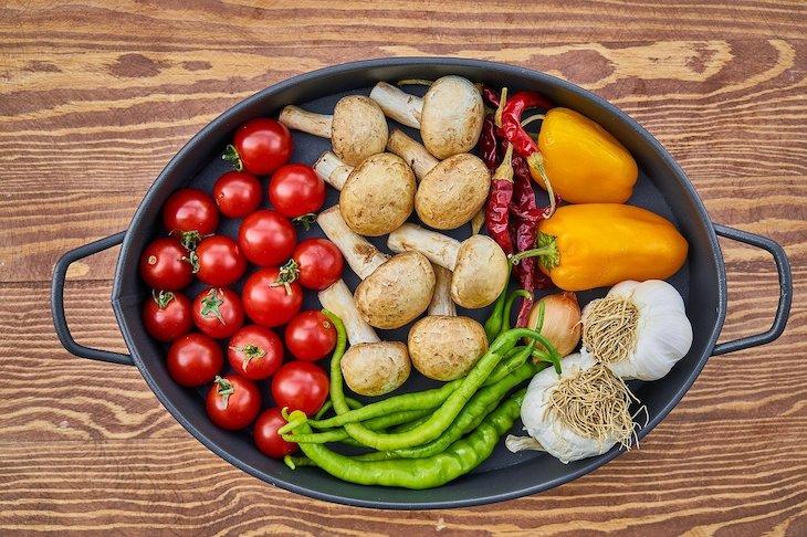 Legumes e cogumelos © Pixabay