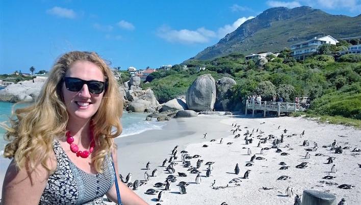 Janet Newenham na Cidade do Cabo © DR