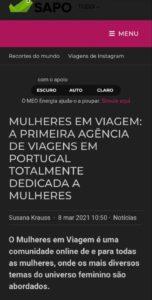 Mulheres em Viagem - SAPO VIAGENS